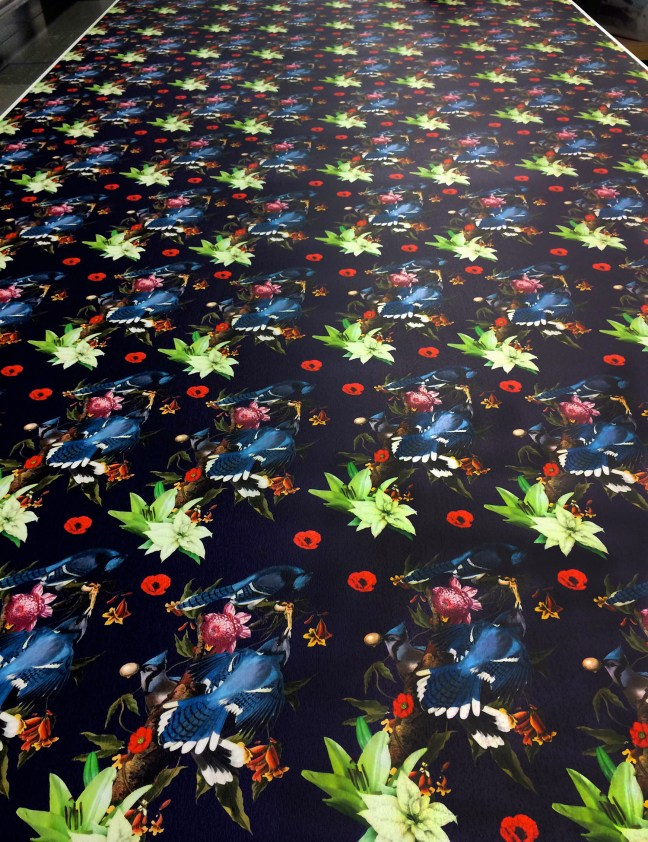 full color flatbed UV printed rollable event flooring