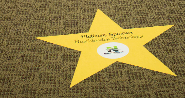 Carbondale Chamber of Commerce - Sponsor Star Floor Graphics
