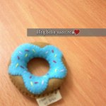Another Mini Felt Doughnut Pincushion untuk cousin ku.. :p