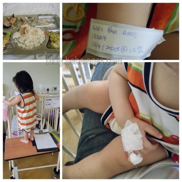 azri masuk wad-hospital likas