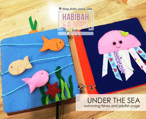busy book for baby - under the sea page