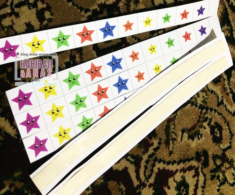 Reward chart sticker stars