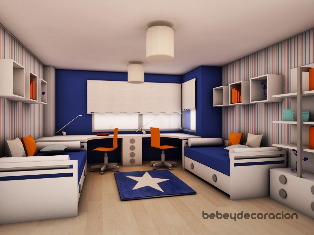 Proyecto de decoracion juvenil: Una habitación para dos