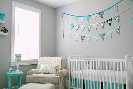 habitacion de bebe en color azul 5