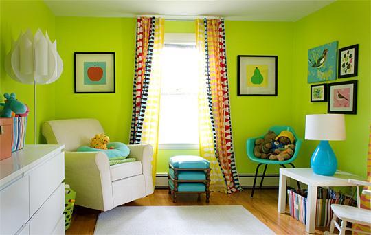 decoración infantil en color verde 3