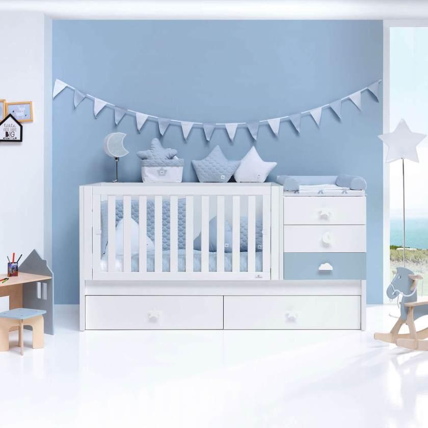 cunas convertibles para bebes transformada en cama sero bubble cielo alondra