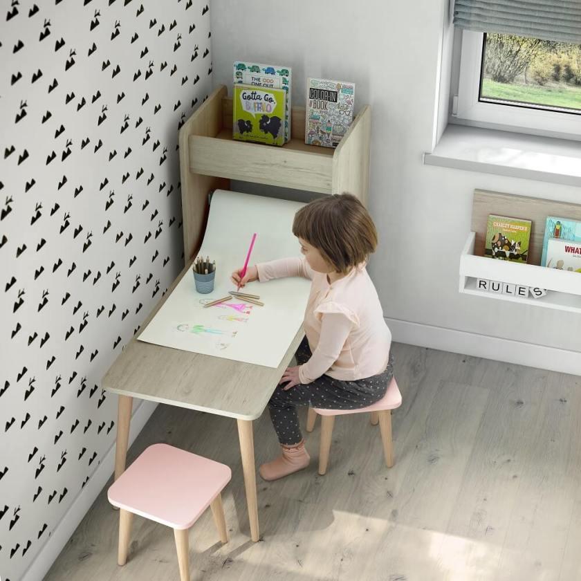 mesa con estanteria