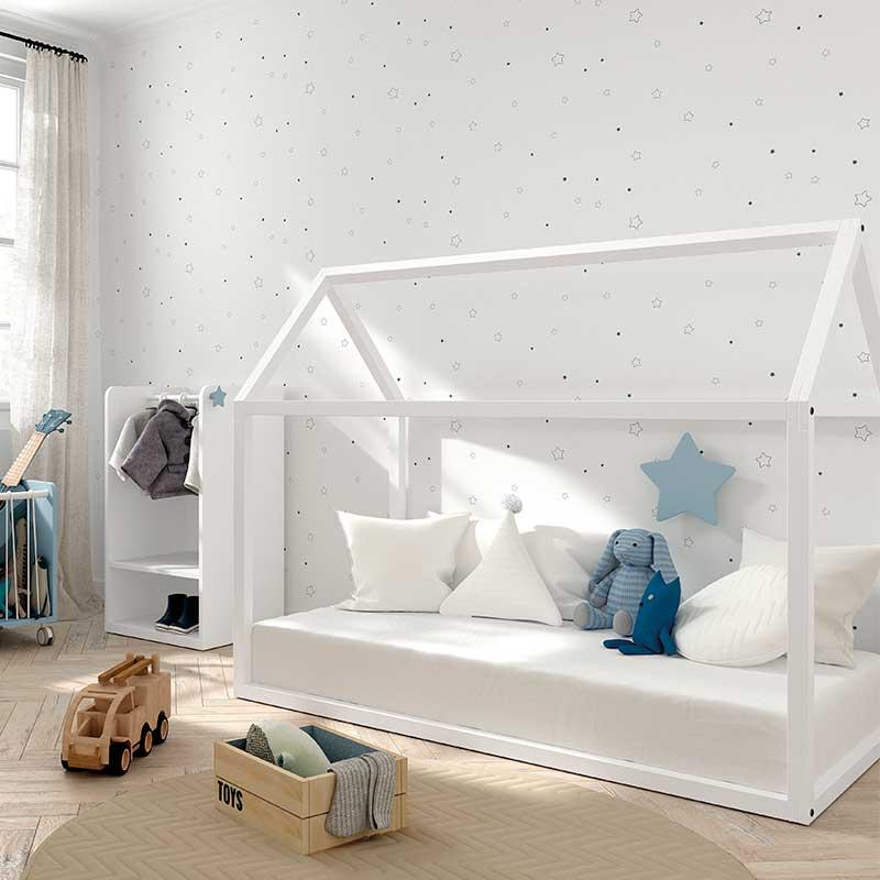 cama casita arco iris
