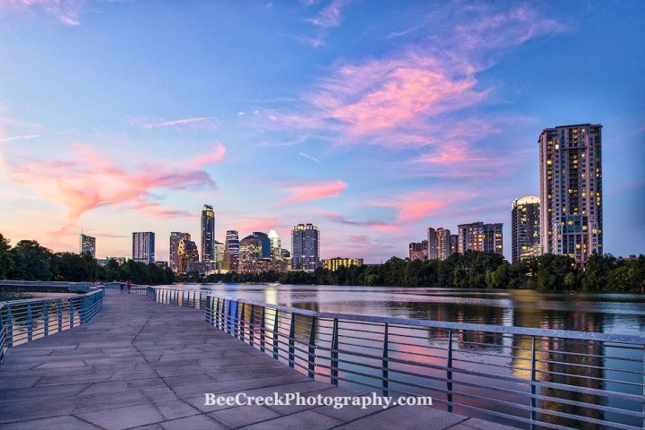 Austin Sunset Skyline on the Boardwalk (Tod Grubbs & Cynthia Hestand)