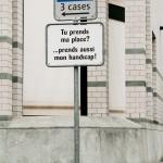 Behindertenparkplätze in Genf