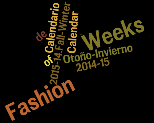 Calendar of Fashion Weeks | Calendario de Fashion Weeks Otoño-Invierno 2015-14.