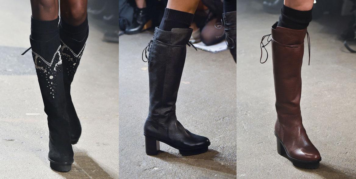 Tracy Reese Fashion Boots. New York Fashion Week. Fall-Winter 2015-2016 / Semana de la Moda de Nueva York. Otoño-Inverno 2015-2016.