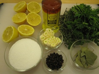Brine ingredients