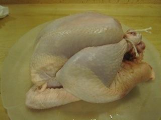 Trussed chicken