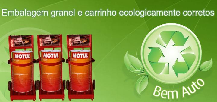 Respeito ao meio ambiente: Utilizamos óleo a granel, o que evita o descarte de pelo menos 200 embalagens no meio-ambiente.