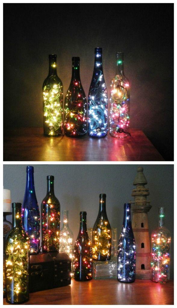 Luzinhas em garrafa