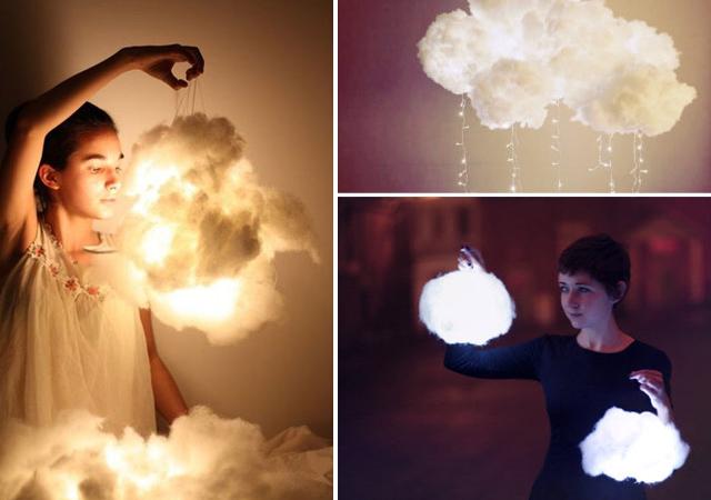 diy comment fabriquer une lampe nuage