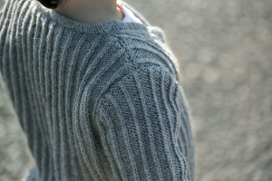 Twisted Rib Cardigan by Renee Lorion