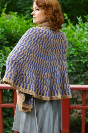 Cape Vertigo by Leah Coccari-Swift Holla Knits Fall '14