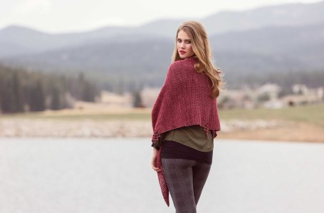 Torchlight crochet shawl by Jennifer Raymond