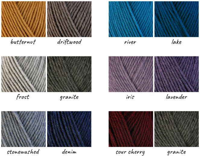color pairings of Berroco ultra wool chunky