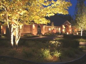 Securely lit home