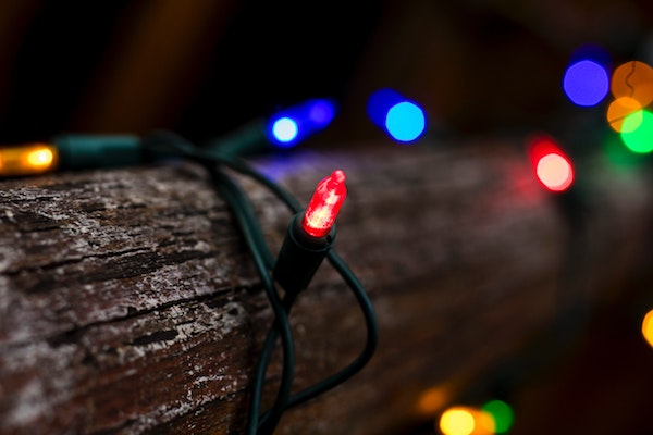 What is the origin of Christmas lights?