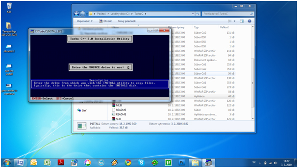 step4 How to install Turbo C++ on Windows 7