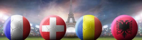 Frankreich, Schweiz, Rumänien, Albanien - Fußball-EM 2016 Gruppe A