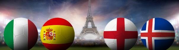 Fußball-EM 2016 - Italien vs. Spanien, England vs. Island