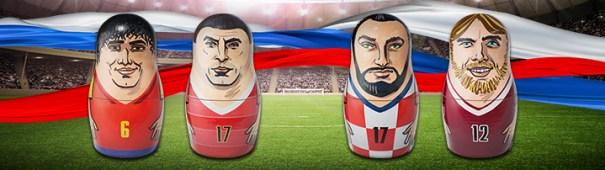 WM 2018 - Spanien vs. Russland, Kroatien vs. Dänemark