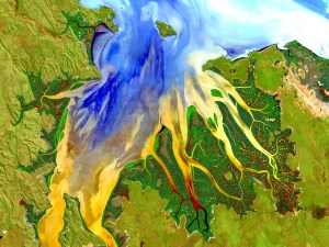 Landsat image of Estuary in Western Australia: NASA/USGS Landsat/Geoscience Australia.