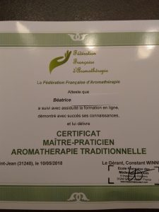 Maître praticienne en aromathérapie
