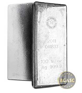 100 ounce silver bar canadian mint