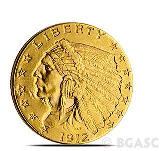 $2.50 Indian Gold Eagle Back