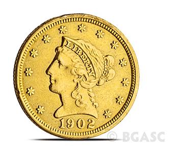 $2.50 Liberty Gold Eagle Back