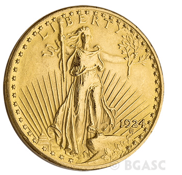 $20 St. Gaudens Front