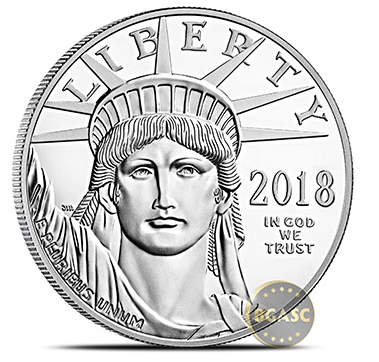 2018 Platinum coin front
