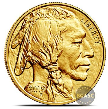 2019 american Gold Buffalo coin front