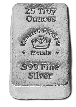 25 ounce Monarch Hand Poured silver