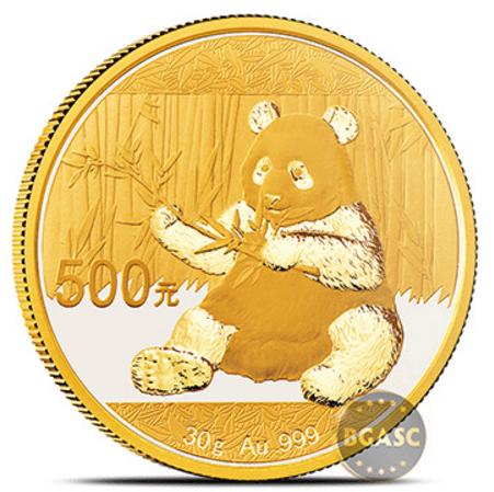 30 g gold panda 2017 bgasc