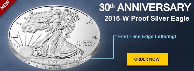 30th anniversary american silver eagle bgasc