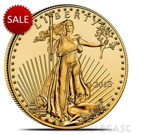 American Gold Eagle random date obverse