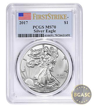 American Silver Eagle 2017 pcgs 70 bgasc