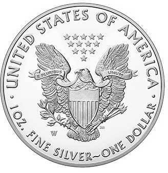 American silver eagle reverse w mintmark bgasc