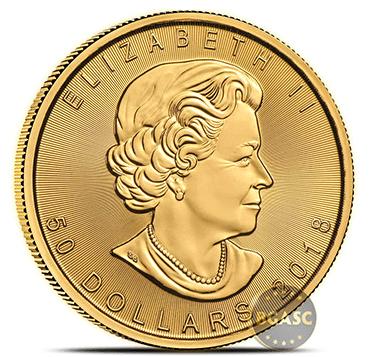 Canadian Mint Gold Maple Leaf 2018 obverse