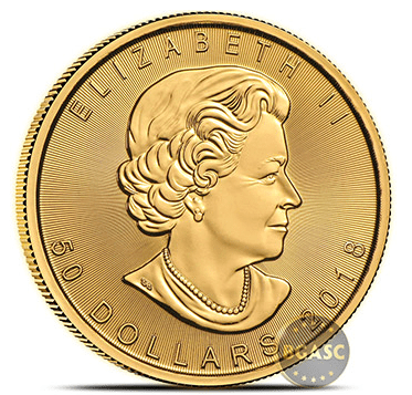 Canadian Mint Gold Maple Leaf 2018 obverse