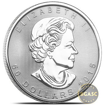 Canadian Platinum Maple Leaf front