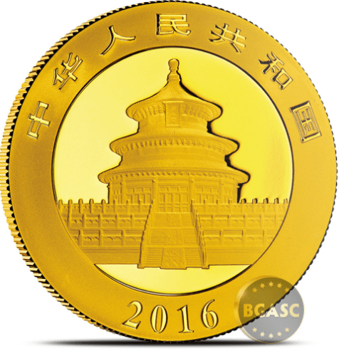 Chinese gold coin 2016 bgasc