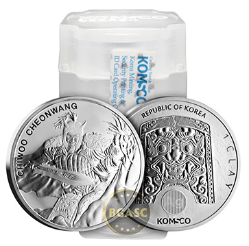 Chiwoo Cheonwang silver rounds front and back roll